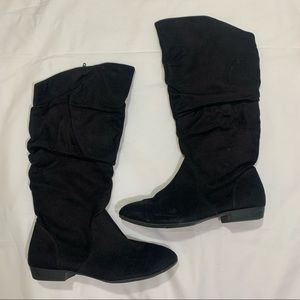 Lower east side black boots size 8